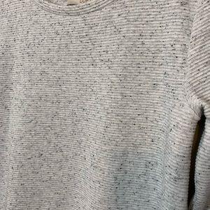 LOFT Tops - LOFT Ribbed Long Sleeve Speckled Peplum Top